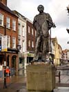 Photograph  Elgar statue at Worcester