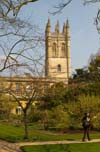 Photograph   Magdalen College Oxford from the Botanical Gardens